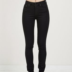 Naked & Famous   high skinny black power stretch
